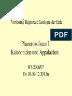 Regionale Geologie Phanerozoikum 1 Kaledoniden Appalachen