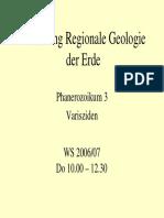 Regionale Geologie Phanerozoikum 3 Varisziden 2