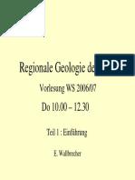 Regionale Geologie Einfuehrung