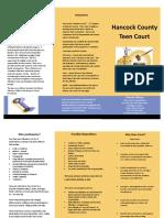 Hancock County Teen Court Brochure