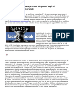 Piratage Facebook compte mot de passe logiciel téléchargement gratuit