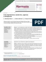 Crisis Hipertensivas Seudocrisis, Urgencias y Emergencias