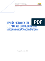 Reseña Historica u.e. n. Dr Arturo Uslar Pietri