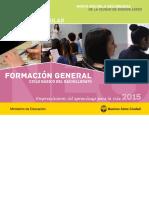 Contenidos curriculares de la Nueva Escuela de la Ciudad de Buenos Aires 2015
