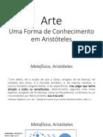 Arte, Uma Forma de Conhecimento Em Aristóteles