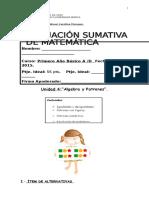 Evaluación Sumativa Matemática Unidad 4 (1)