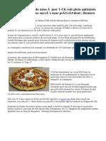 Pizza de Domino's de mise à jour 1-UK voit plein optimiste année, partage des succès sans précédent | Reuters
