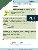 2do Grado - Español - Adjetivos, verbos y sustantivos.pdf