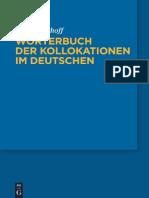 Woerterbuch Der Kollokationen Im Deutschen