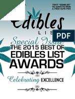 Edibles Magazine January 2016 Awards Issue