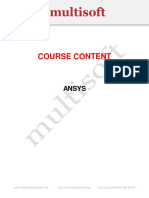 Ansys 2015 Course Content