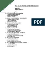 Daftar Siswa Yang Mendapat Peringkat