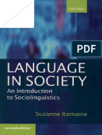 Language in Society Intro to Sociolinguistics