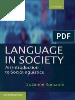 Language in Society Intro to Sociolinguistics