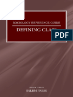 Defining Class, Sociology Reference Guide - Salem Press
