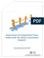 Migration from India and its socio economic impacts