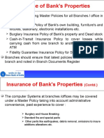 Insurance of Bank Property