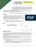 TP13 Proctor - Étude d'Un Sol - Compactage