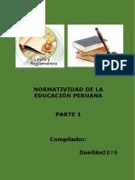 Normas Educativas Perú. Parte 1