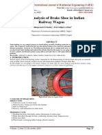 Failure Analysis of Brake Shoe in Indian Railway Wagon
