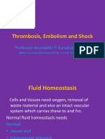 Thrombosis Embolism and Shock