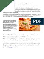 Vente de pizza spike sur nouvel an | Nouvelles