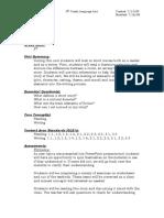Short Story Unit Overview