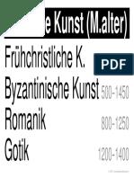 w LernPlakate KUN Bildende-Kunst-Mittelalter
