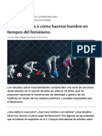 Masculinidades o Cómo Hacerse Hombre en Tiempos Del Feminismo « Diario y Radio Uchile