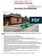 Drive Thru Weigh-bridge