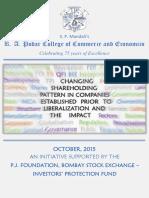 Changing Shareholding Pattern