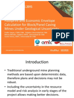 Footprint and Economic Envelope Calculation for Block/Panel Caving