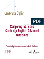 Comparing IELTS and CAE for Candidates