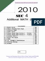 2010 Sec4 a Maths Sa2 Parts 1