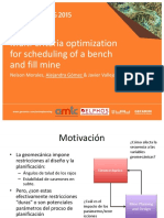 Multi-criteria optimization for scheduling of a bench and fill mine