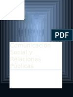Comunicación Social y Relaciones Públicas
