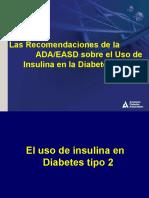Recomendaciones de la ADA del uso de Insulina en DM2