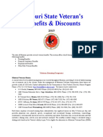 Vet State Benefits & Discounts - MO 2015
