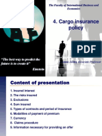 4. Cargo Insurance Policy - 2012