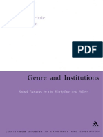 Genre and Institutions