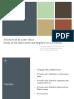 Volatility as an Asset Class