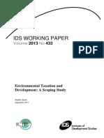 Environmental Taxation and Development