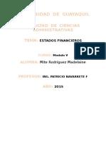 Estados Financieros Analisis