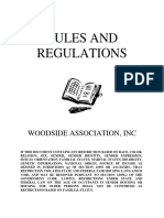 Woodside HOA Rules & Regulations