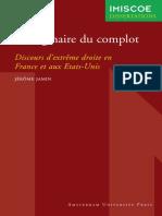 L'Imaginaire Du Complot - Discourts d'Extrême Droite en France Et Aux Etats-Unis