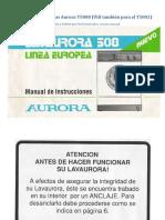 Manual de Lavarropas Aurora T5808
