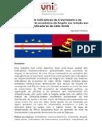 Análise dos principais indicadores económicos de Angola  e de Cabo Verde