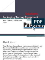 Packaging Testing Equipment - by PackTest.com