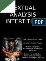 Olympus Has Fallen Textual Analysis INTERTITLES