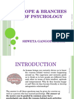 Scope & Branches of Psychology
